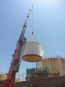 REPLACEMENT OF SHELL RINGS AT NO 18 FIREFIGHTING WATER TANK AT HERAKLION COMPLEX – CRETE ISLAND